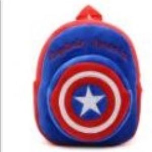 Handbags - Cute plush backpack/ Captain America